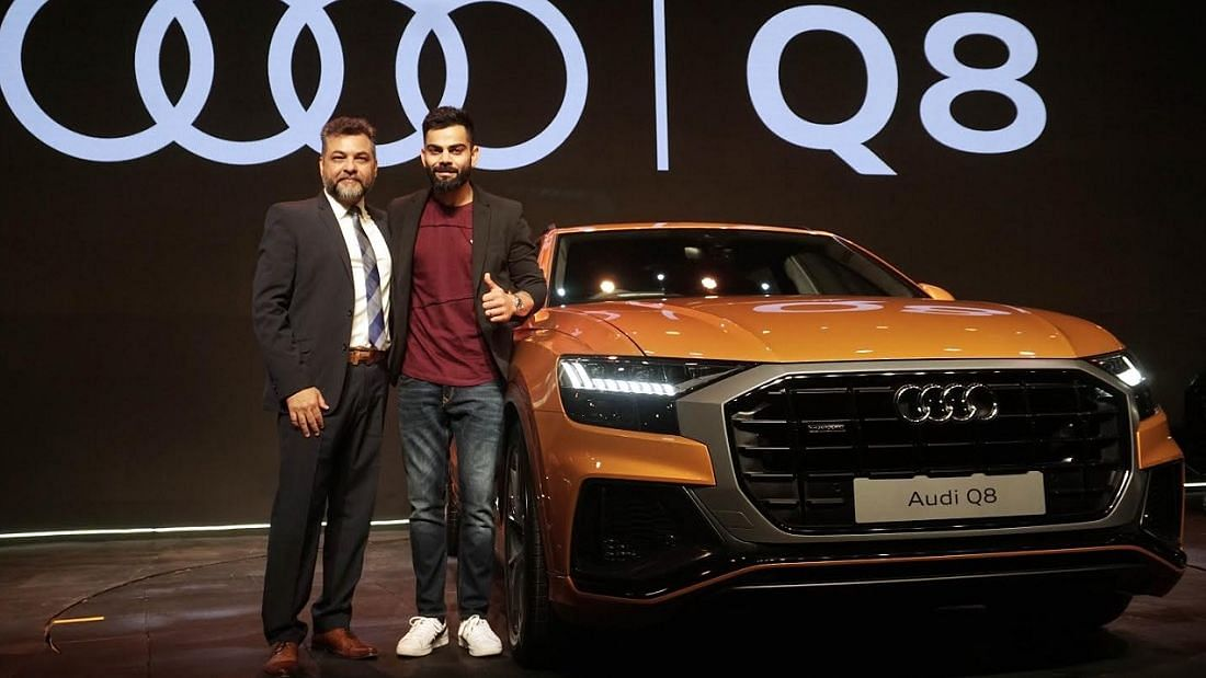 Cricketer Virat Kohli is the brand ambassador and also gets the first Audi Q8 in India.