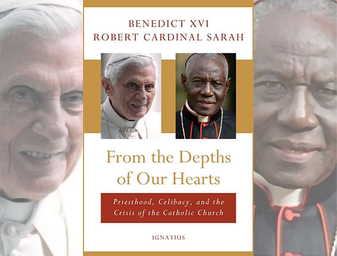 """From the Depths of Our Hearts"", co-authored by former Pope Benedict XVI and Cardinal Robert Sarah of Guinea."