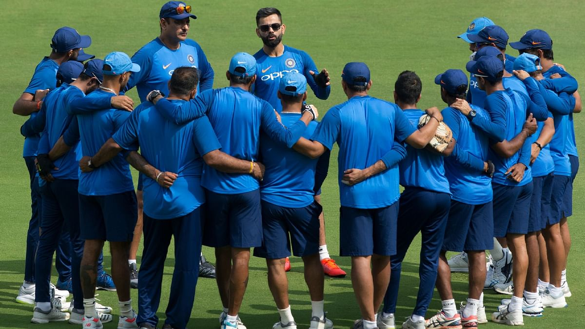 On the eve of the match, the Indian team was seen involved in catching the ball with one hand and a video of which was uploaded on BCCI's official Twitter handle.