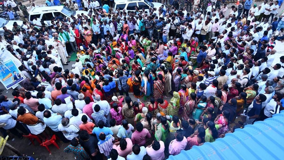 Protesters March 10 km Seeking Sole Capital Status for Amaravati