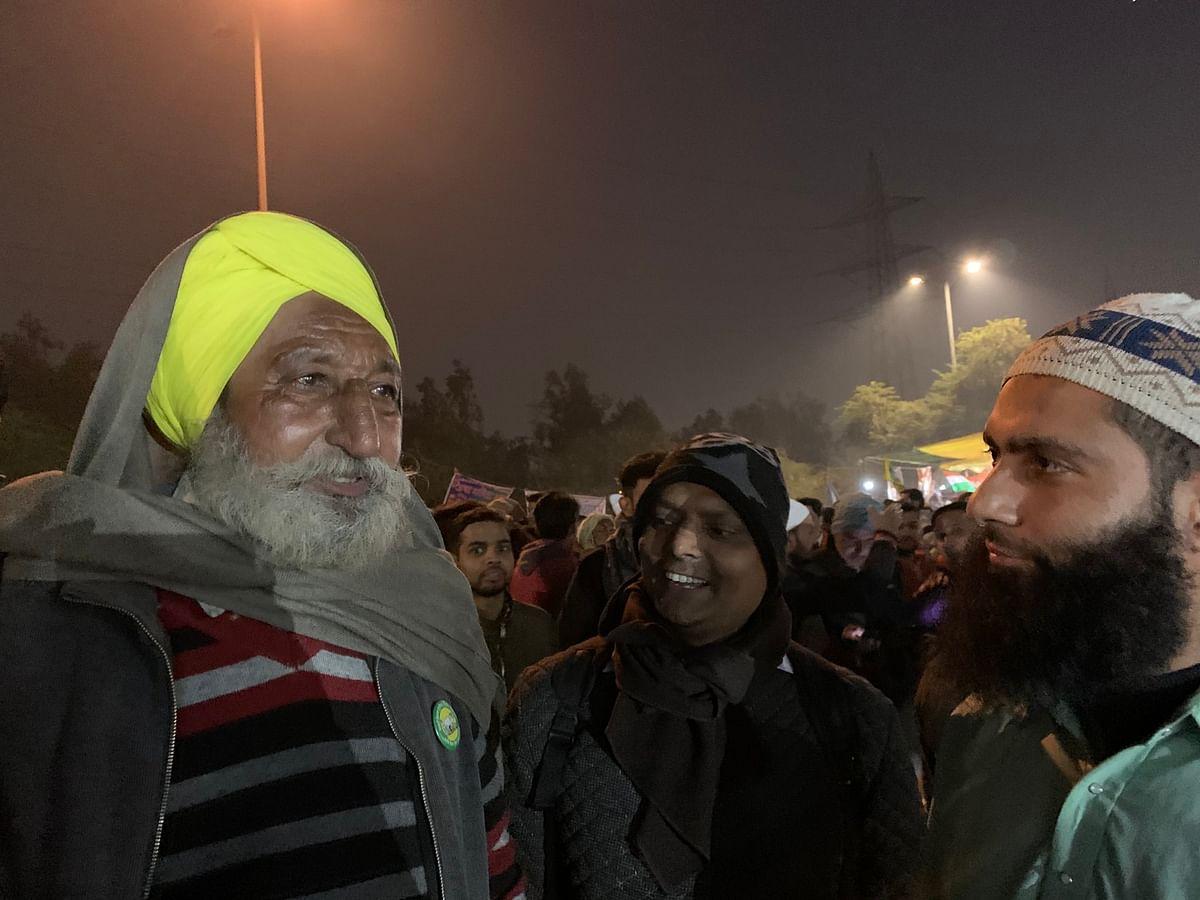 Sikh farmer at Shaheen Bagh.