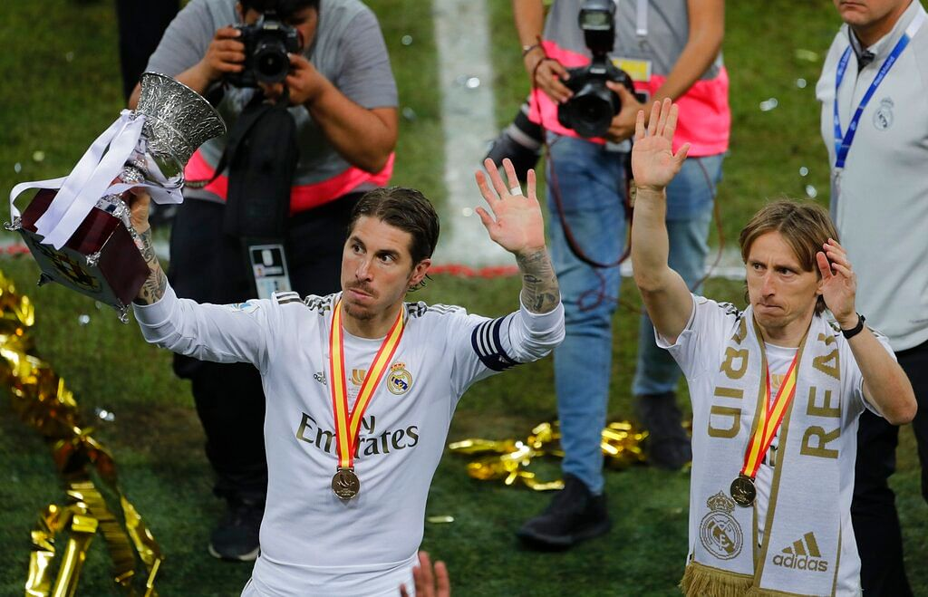 Sergio Ramos (left) and Luka Modric put up an impressive show for Real Madrid.