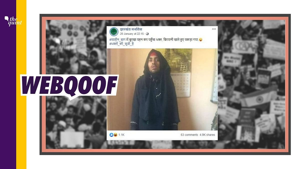 Burqa Clad 'Bhakt' Caught at Shaheen Bagh Protests? It's Fake News