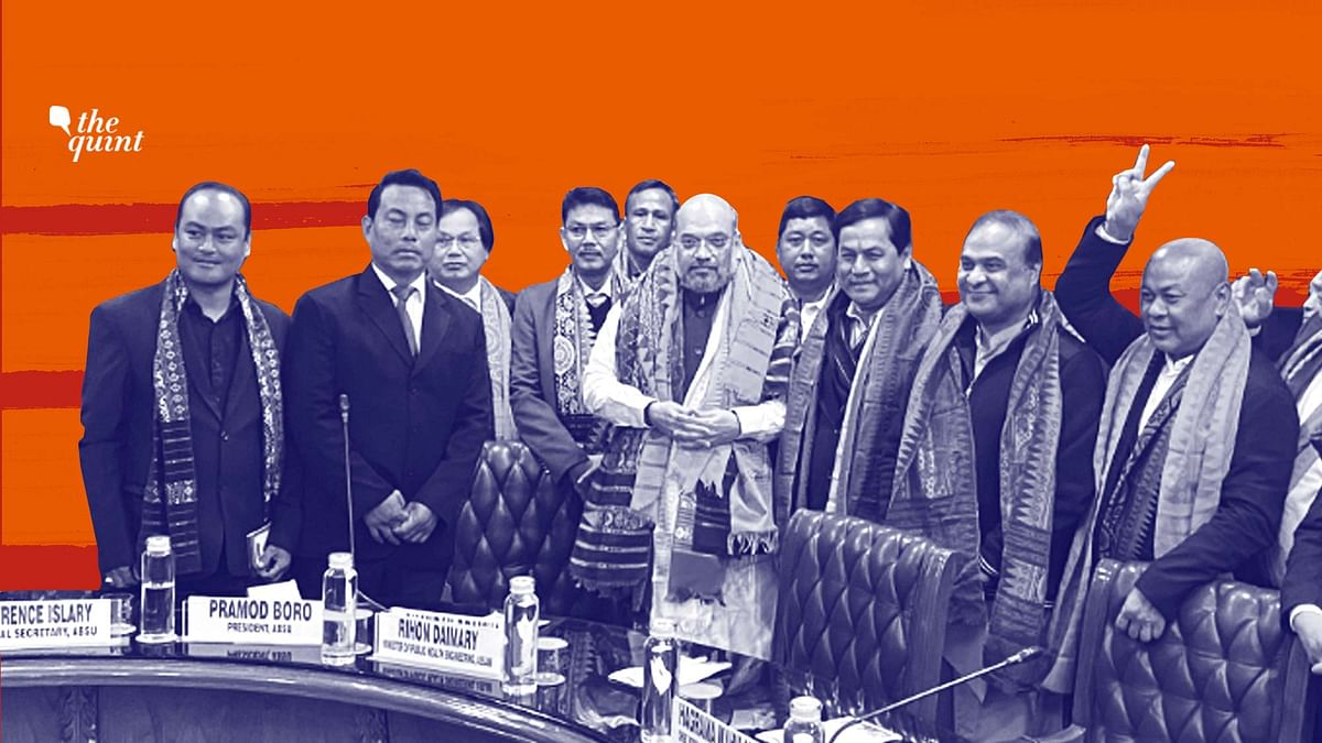 Image of Amit Shah and other signatories to the 2020 Bodo Accord used for representational purposes.