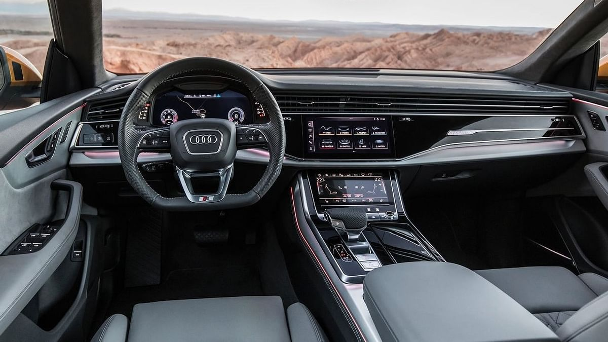 The interiors of the Audi Q8 feature complete touchscreen control systems.