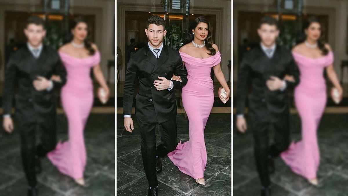 Priyanka Chopra and Nick Jonas at the 77th Golden Globes.