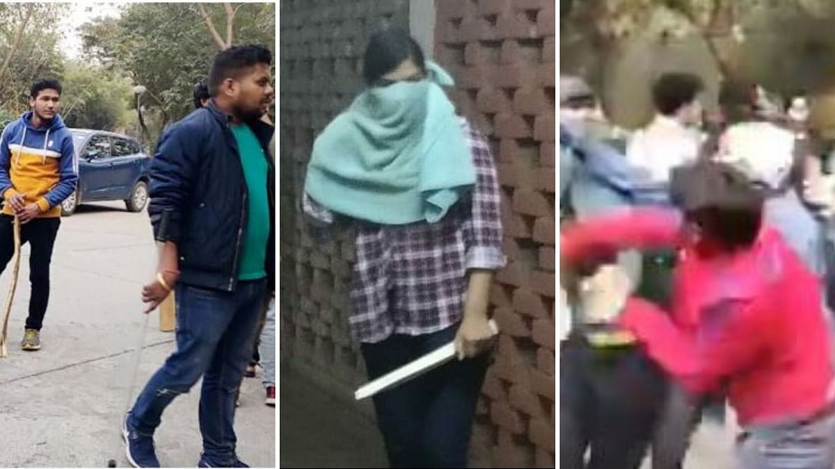 Media outlets scanned through a sea of viral images to identify the culprits behind the JNU violence that broke out  on Sunday.