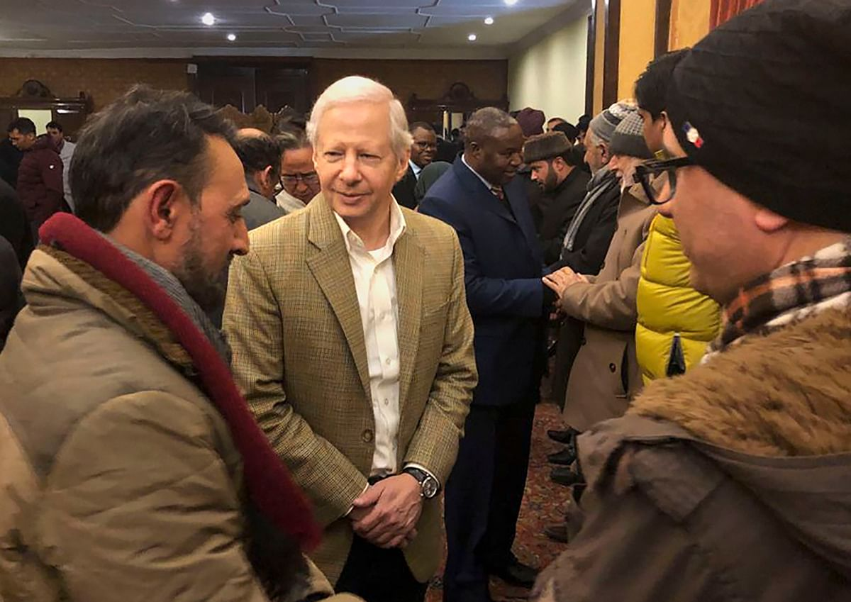 US envoy to India Kenneth I Juster and other diplomats meets with civil society members during their visit to Kashmir, in Srinagar on Thursday, 9 January 2020.