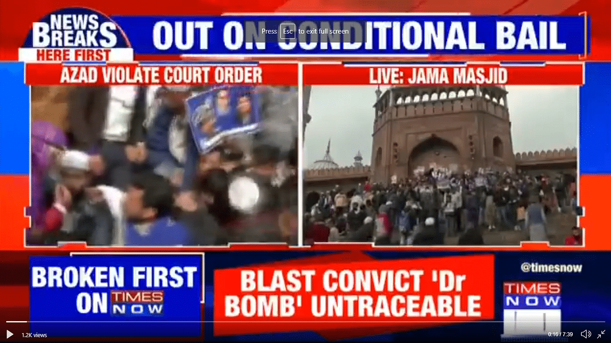 Media Said Azad at Jama Masjid Defied Bail Order. They Were Wrong