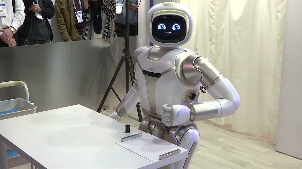 Meet Friendly Robot 'Walker' Who Can Talk, Paint & Do Yoga