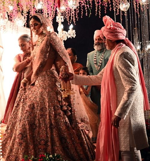 Katrina plays a bride with Amitabh and Jaya as her parents.