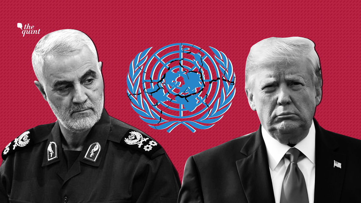 The killing of Major General Qassem Soleimani (L) upon the orders of US President Donald Trump (R) is a violation of the UN Charter and international law.