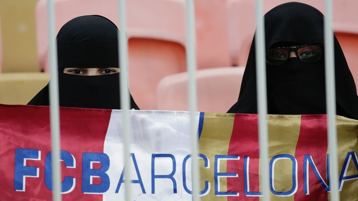 The Spanish federation has praised the fact women are being allowed to watch the Super Cup games.