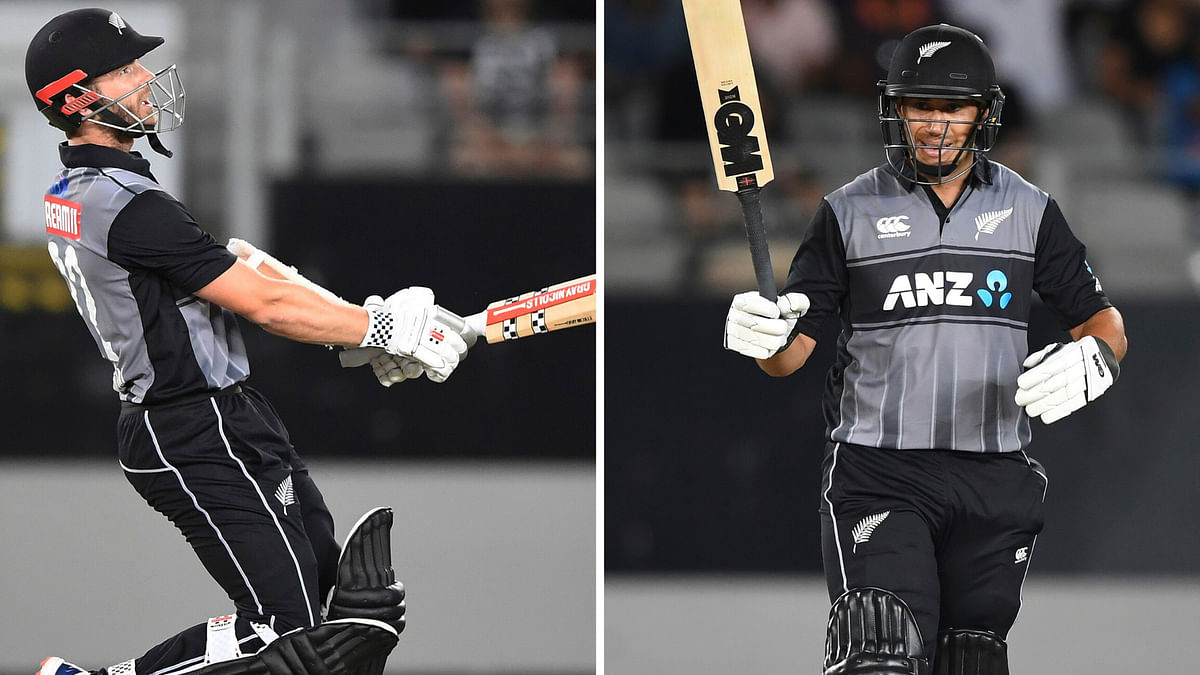 Kane Williamson & Ross Taylor put up a stand of 61 runs for the 4th wicket.