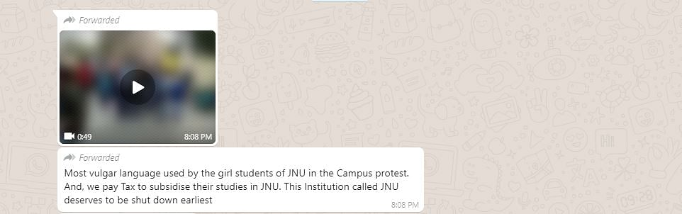 JNU Girls Abusing on Campus? Video Is Neither Recent Nor From JNU