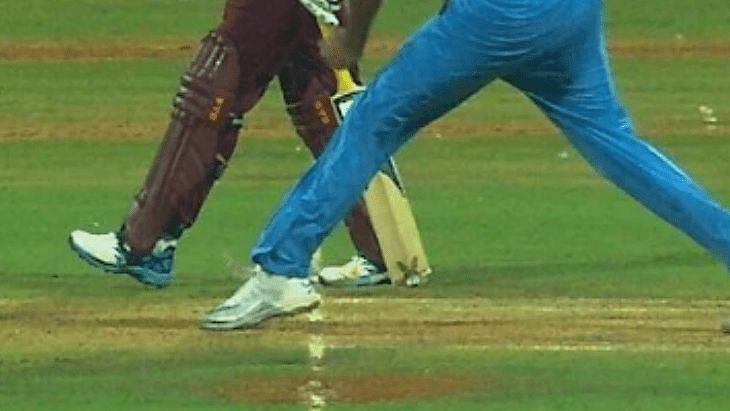 Front foot no balls were decided by the third umpire and not on-field officials in the recent series between India and West Indies.