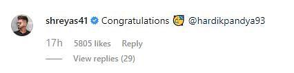 Virat 'Surprised', Teammates Congratulate Hardik On Engagement