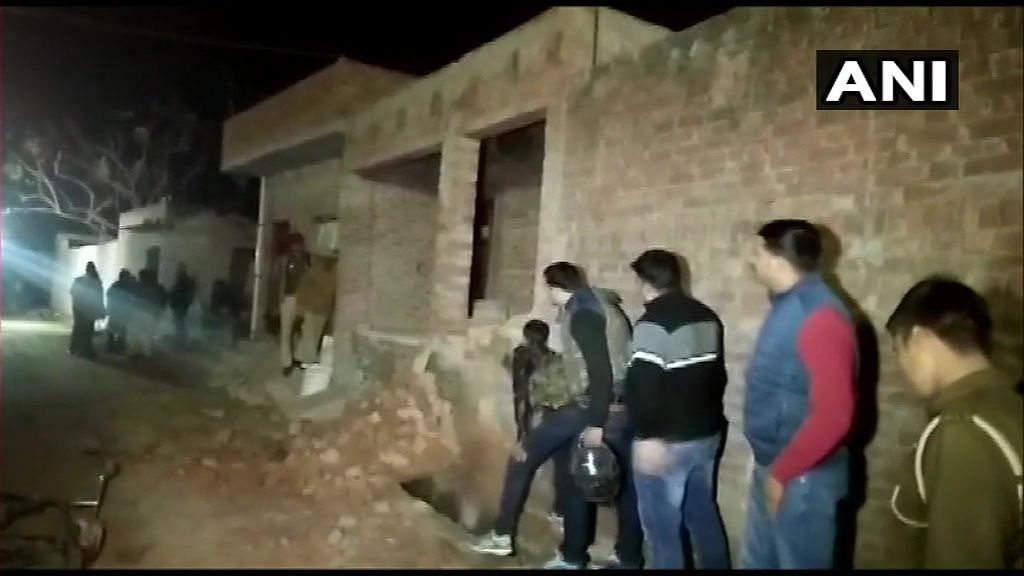 Three police personnel and a villager have been injured in the incident.