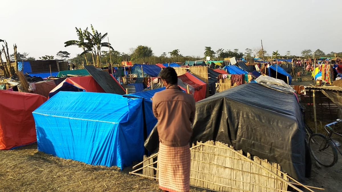 The evicted families have settled in three different camps.