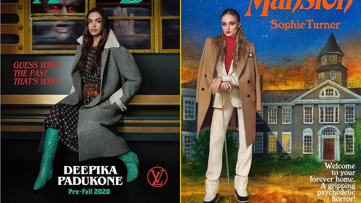 Deepika Padukone and Sophie Turner in Louis Vuitton's pre-fall 2020 campaign.