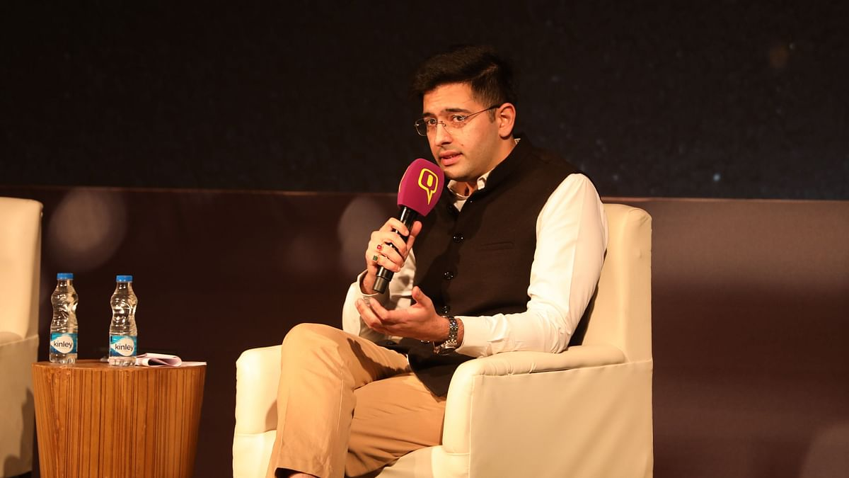 Raghav Chadha, national spokesperson, Aam Aadmi Party at the 'Safer Roads For Safer Lives' event.