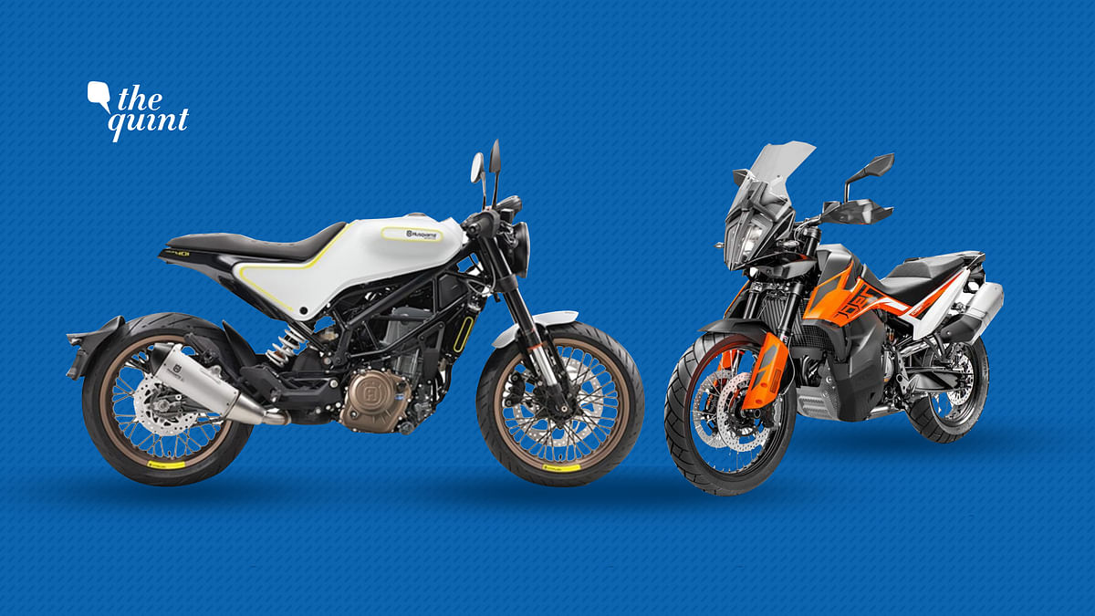 The Husqverna Svartpilen 401 (left) and the KTM Duke 790 Adventure will be officially launched this year.