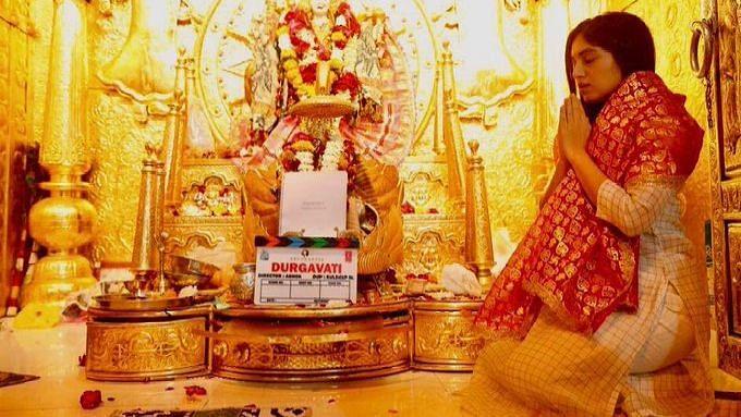 A photo from the sets of <i>Durgavati.&nbsp;</i>