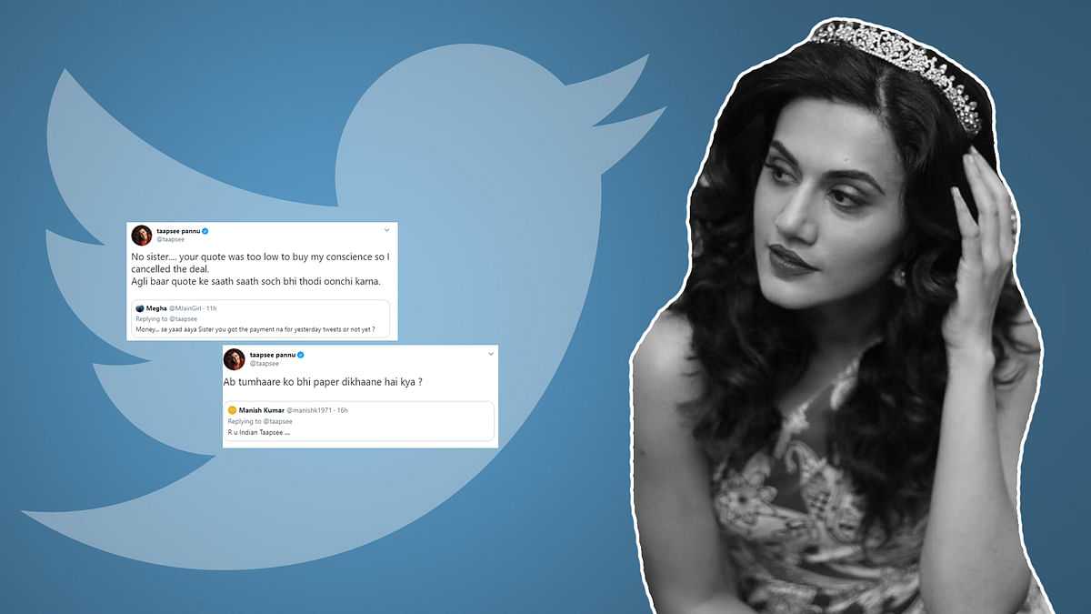 Taapsee Pannu has a response for everyone!