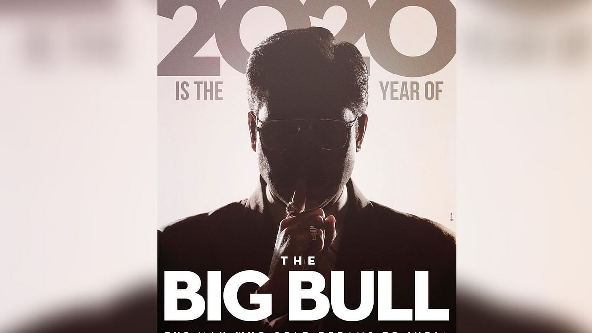 Abhishek Bachchan in a a poster from <i>The Big Bull.&nbsp;</i>