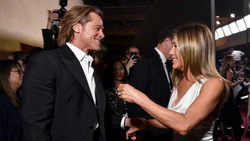 Brad Pitt Stops Everything to Watch Jennifer Aniston's SAG Speech