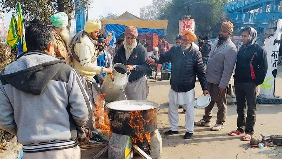Sikh farmers at Shaheen Bagh.