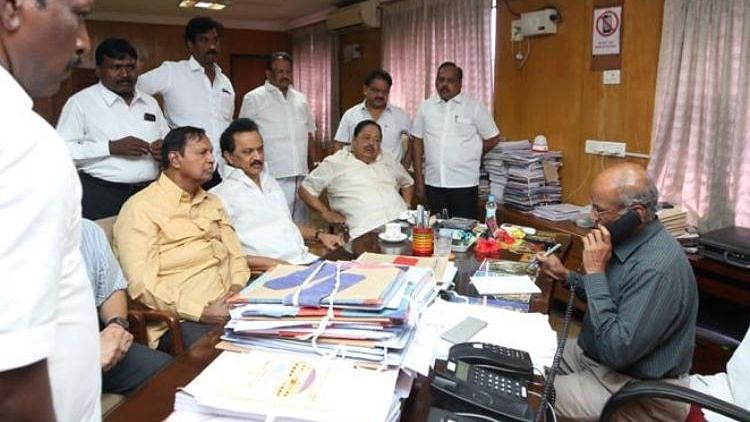 DMK Chief MK Stalin alleges irregularities in counting of local body polls.