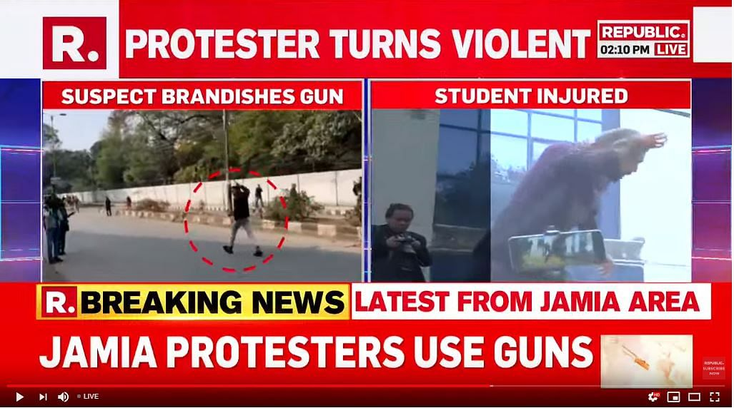Republic Says Anti-CAA Protester Fired At Jamia, Facts Be Damned