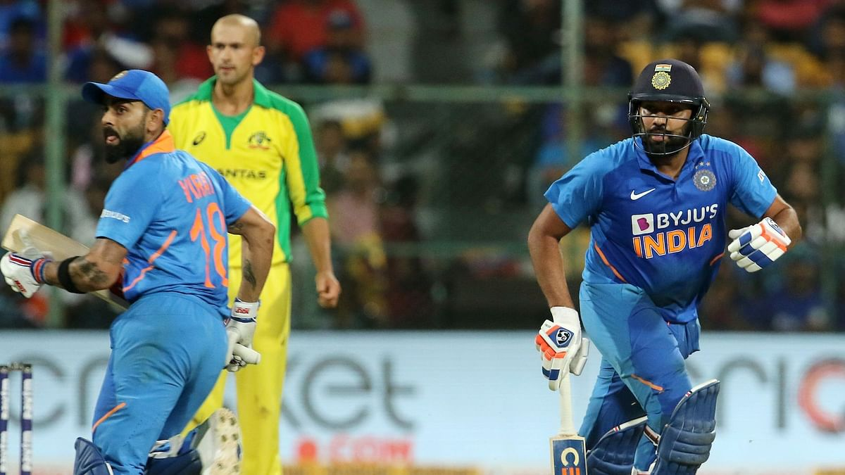 Virat Kohli and Rohit Sharma struck a partnership of 137 runs for the second wicket in Bengaluru.