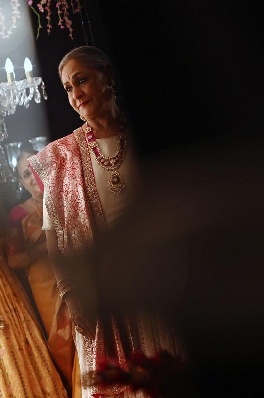 Jaya Bachchan in wedding finery.