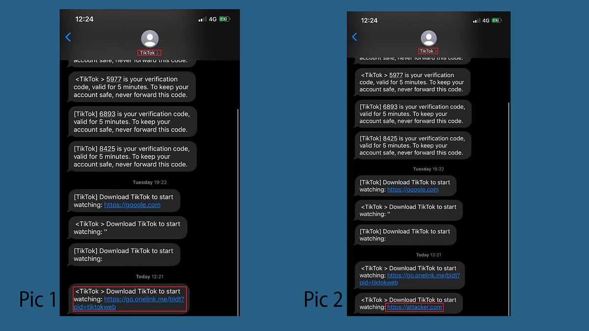 How the SMS spoofing is done.