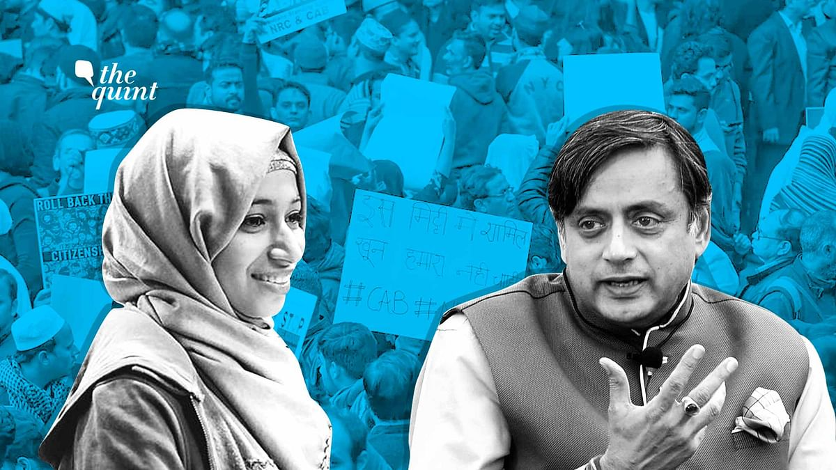 Image of Ladeeda Farzana, author of this open letter, and Dr Shashi Tharoor, used for representational purposes.