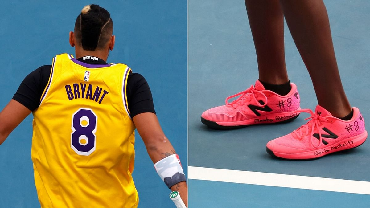 Players Pay Respects to Kobe Bryant at Australian Open