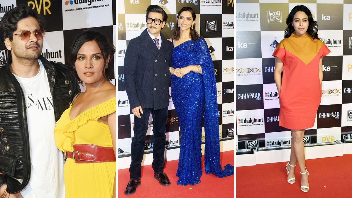 Swara, Richa, Ranveer & Deepika at 'Chhapaak' Special Screening