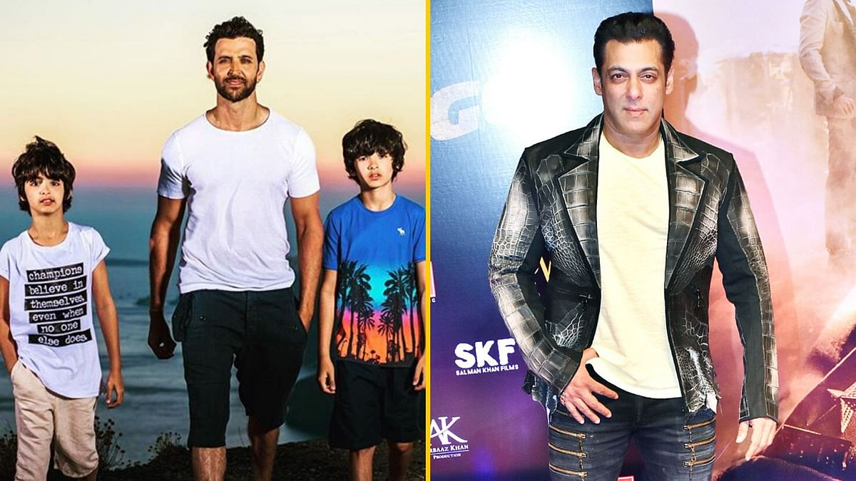 Hrithik Roshan on vacation with his kids; Actor Salman Khan.