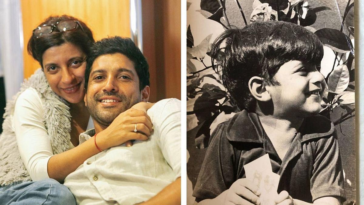 Zoya Akhtar shared a childhood photo of brother Farhan Akhtar on his birthday.