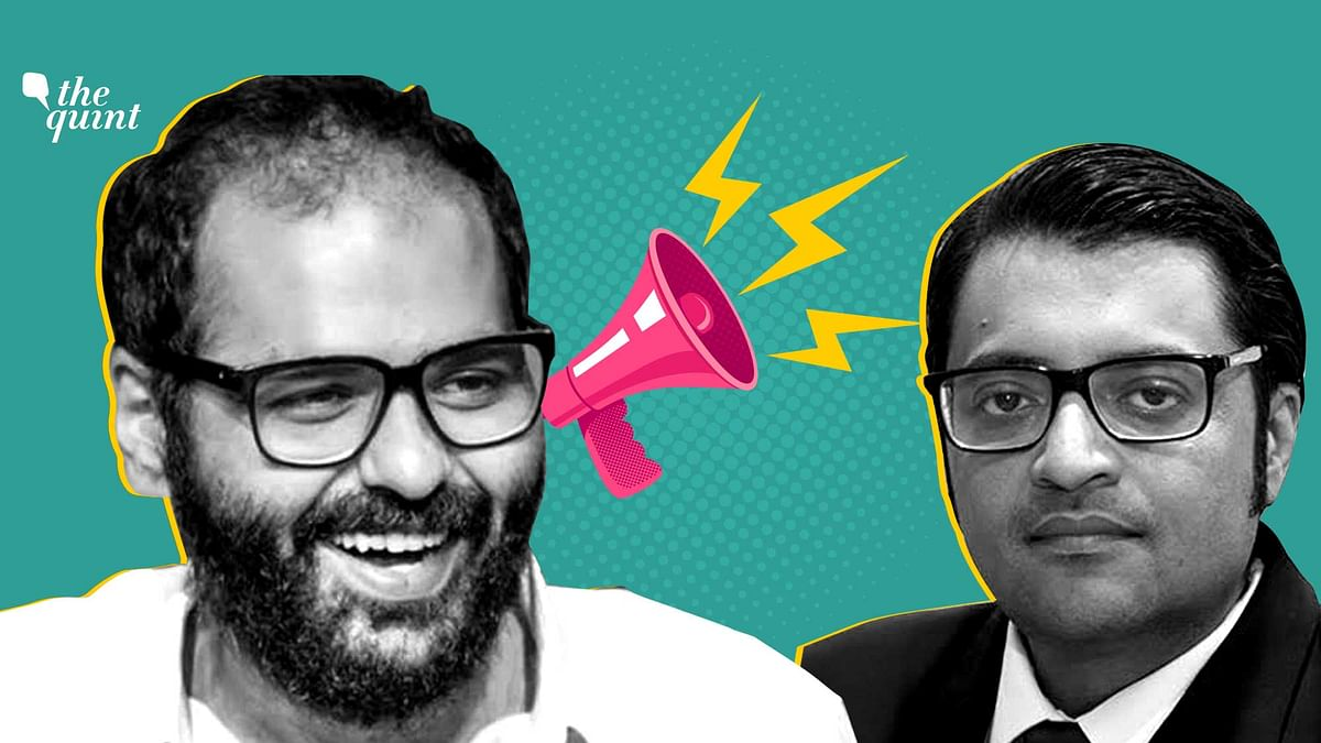 Image of Kunal Kamra (L) and Arnab Goswami (R) used for representational purposes.