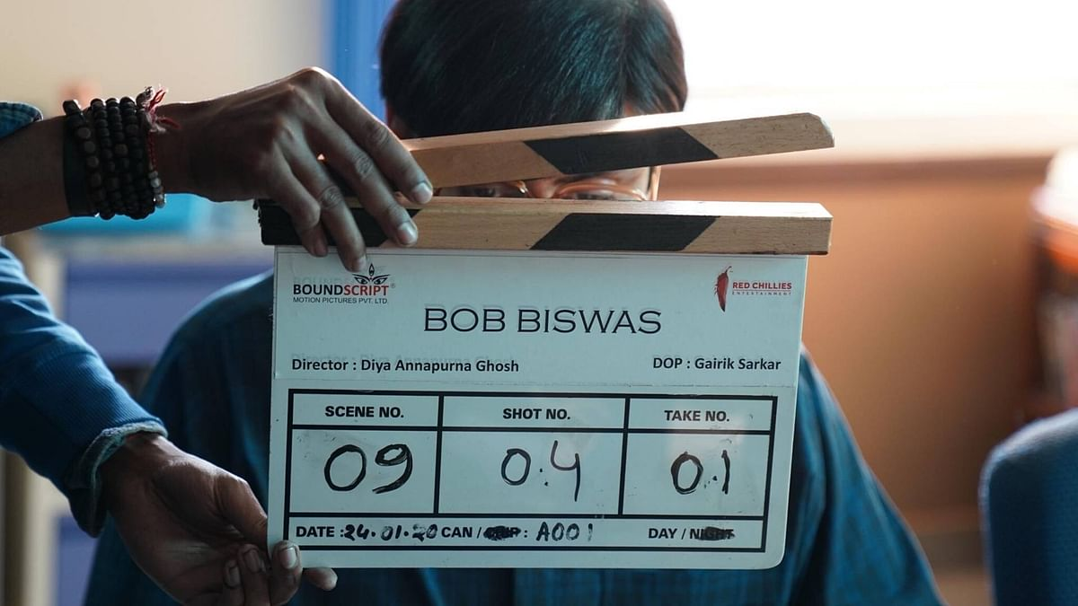 Abhishek Bachchan kicks off the shoot for <i>Bob Biswas</i>.