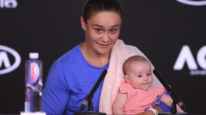 Ashleigh Barty Comforted by Baby After Shock Australian Open Loss