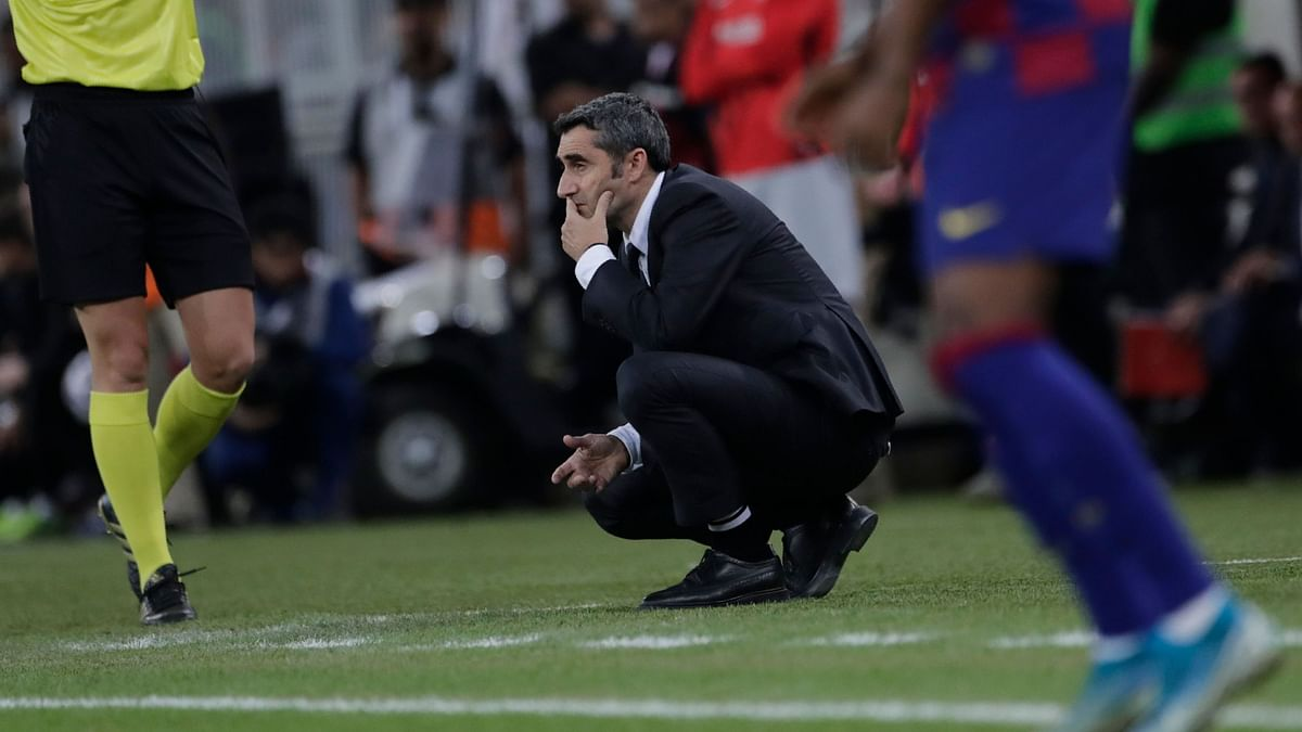 Valverde's job was also in jeopardy at the end of last season after Barcelona lost the Copa del Rey final to Valencia.