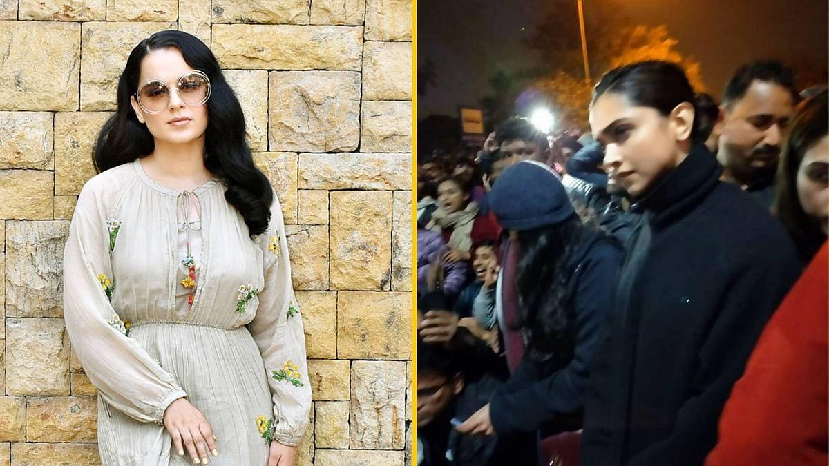 Here's How Kangana Reacted to Deepika's Silent Protest at JNU