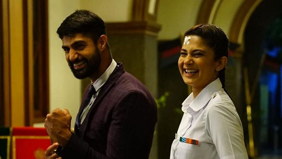 Tanuj Virwani and Jennifer Winget in a still from <i>Code M.</i>