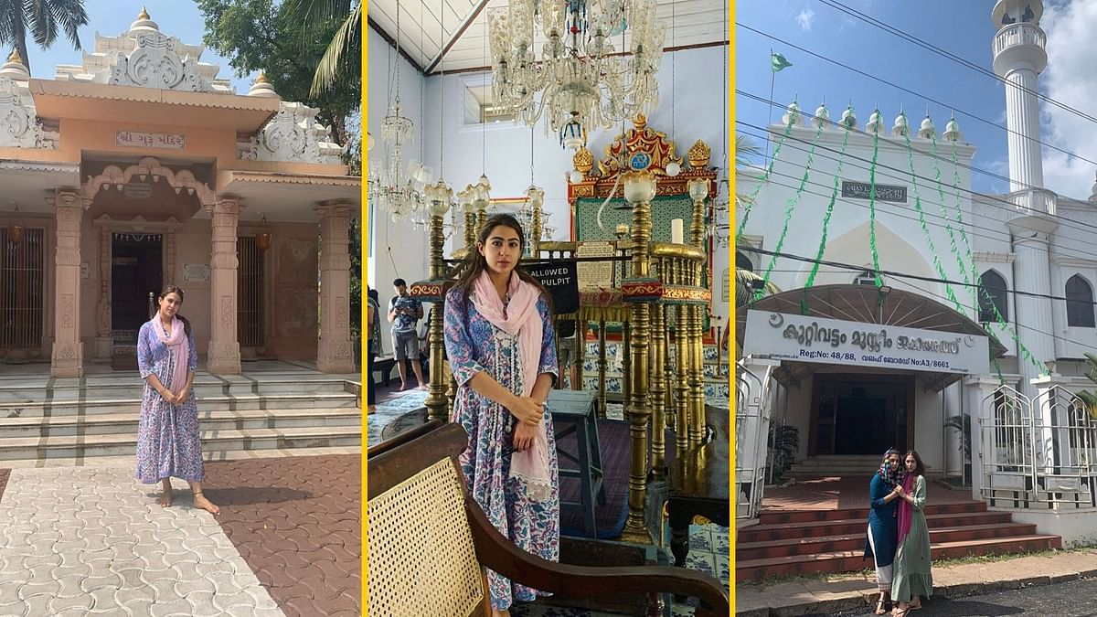 Sara Ali Khan visits places of worship of different religions on New Year.