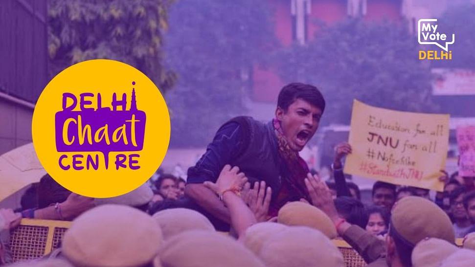 Delhi Chaat Centre   Students Talk Padhai, Protests and Politics
