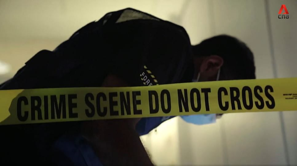 A scene from <i>Crime Science</i>.